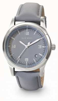 Elliot Brown Womans kimmeridge gris gris oscuro correa de cuero 405-004-L56