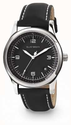 Elliot Brown Womans kimmeridge cinturón negro cuero negro correa de cuero 405-005-L58