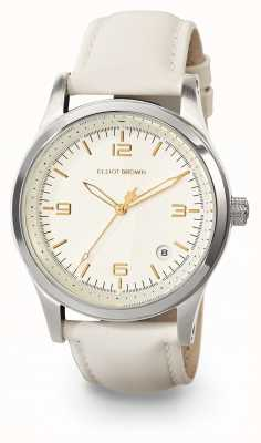 Elliot Brown Womans kimmeridge champagne y correa de cuero marfil aceitado 405-008-L54