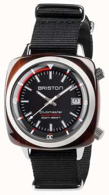 Briston Unisex clubmaster buzo caparazón acetato negro auto 17642.SA.TD.1.NB