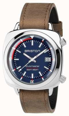 Briston Unisex clubmaster buzo cepillado acero cuero auto navy 17642.PS.D.15.LVBR