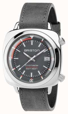Briston Unisex clubmaster buzo cepillado acero cuero auto gris 17642.PS.D.17.LVB