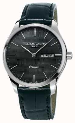 Frederique Constant Hombres clásico índice blackleather correa gris oscuro dial FC-225GT5B6
