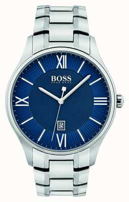 Hugo Boss Reloj azul clásico del reloj del regulador del Mens 1513487