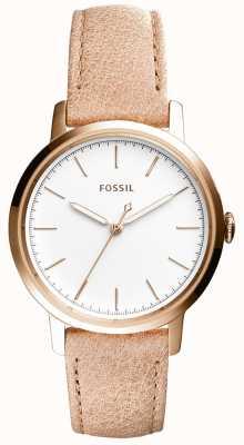 Fossil Correa de cuero beige de mujer neeley ES4185