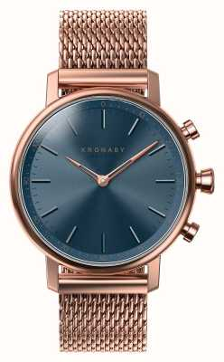 Kronaby 38mm quilates bluetooth rosa oro esfera azul smartwatch A1000-0668