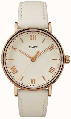 Timex La caja de oro color de rosa del dial del southview 37mm de la mujer se levantó TW2R28300