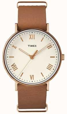 Timex Unisex caja de tono de oro color rosa rosa TW2R28800