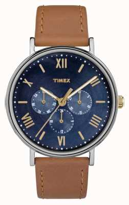 Timex Mens cronógrafo multifunción southview marrón TW2R29100