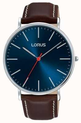 Lorus Hombres vestido urbano clásico azul marino dial RH813CX9