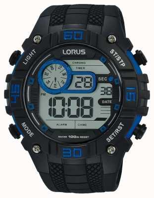 Lorus Reloj digital para hombre negro y azul R2353LX9