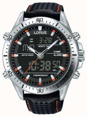 Lorus Mens sport analógico / cronógrafo digital negro RW637AX9