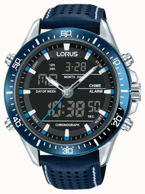 Lorus Mens sport analógico / cronógrafo digital azul RW643AX9