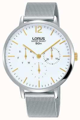 Lorus Womans elegancia cronógrafo pulsera de malla de plata RP689CX9