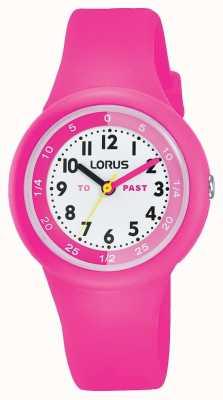 """Lorus Niños """"pasado"""" """"para"""" reloj de silicona rosa RRX99EX9"""