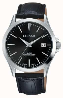 Pulsar Correa de cuero negro PS9457X1