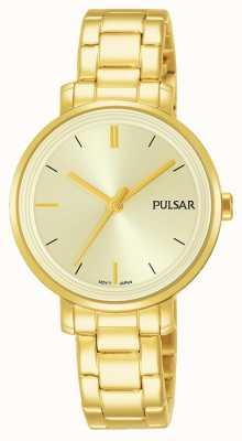 Pulsar Pulsera de acero inoxidable chapado en oro PH8360X1