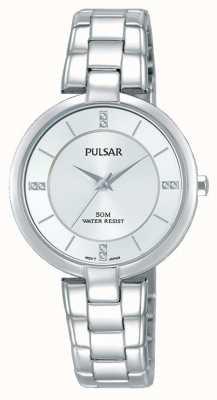 Pulsar Womans pulsera de acero inoxidable esfera de plata PH8311X1