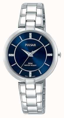 Pulsar Womans pulsera de acero inoxidable esfera azul PH8313X1