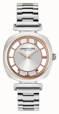 Kenneth Cole Brazalete de acero plateado de la plata de la plata de la mujer KC15108002