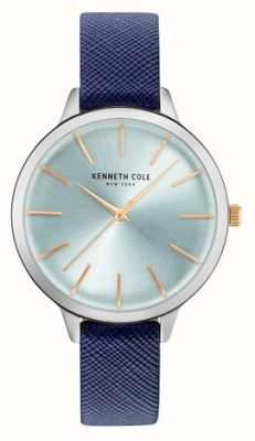 Kenneth Cole Cuero azul mujer de la correa madre de la perla marcar KC15056003