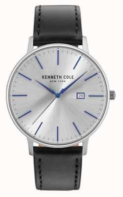 Kenneth Cole Correa de cuero negro para hombre KC15059006
