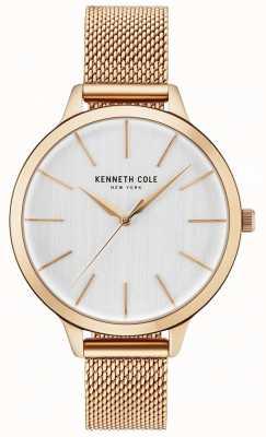 Kenneth Cole Pulsera de oro de la rosa del dial blanco de la mujer KC15056014