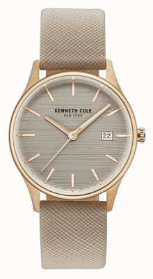 Kenneth Cole Womans marrón marrón correa de cuero marrón KC15109003