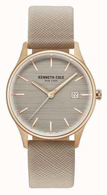 Kenneth Cole Womans marrón marrón correa de cuero marrón KC15109003
