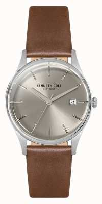 Kenneth Cole Womans 35mm caja de acero inoxidable plata KC15109005