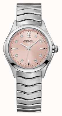 EBEL Reloj rosado del acero inoxidable del dial de las mujeres de la onda 1216217