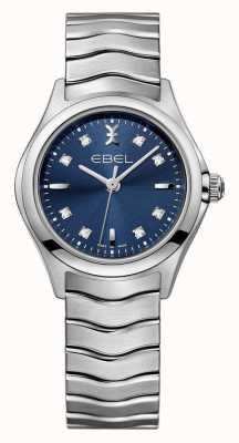 EBEL Reloj azul del acero inoxidable del dial de las mujeres de la onda 1216315