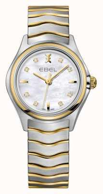 EBEL Reloj de dos tonos de las mujeres de la onda 1216197