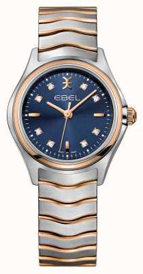 EBEL Reloj Wave para mujer en color azul con dos tonos y esfera azul. 1216379