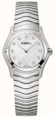 EBEL Reloj clásico de acero inoxidable con diamantes para mujer. 1215421