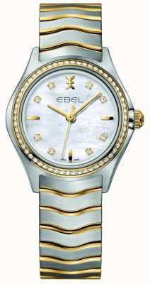 EBEL Reloj para mujer Wave con dos tonos de diamantes. 1216351