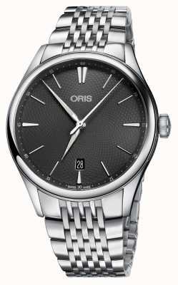 Oris Artelier fecha automática de acero inoxidable gris dial 01 733 7721 4053-07 8 21 79