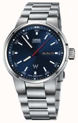 Oris Williams día fecha automática de acero inoxidable azul dial 01 735 7740 4155-07 8 24 50S