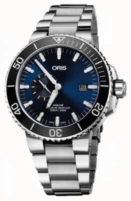 Oris Aquis date dial automático de acero inoxidable azul 01 743 7733 4135-07 8 24 05PEB