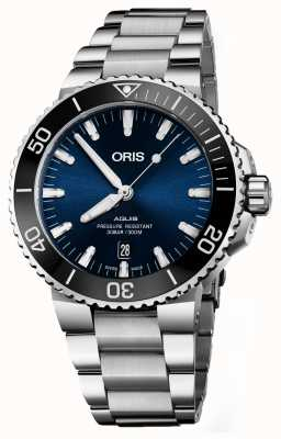 Oris Aquis date dial azul acero inoxidable automático 01 733 7730 4135-07 8 24 05PEB