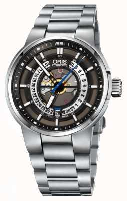 Oris Acero inoxidable automático de la fecha del motor Williams 01 733 7740 4154-07 8 24 50S