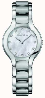 EBEL Juego de diamantes beluga para mujer en acero inoxidable. 1216038