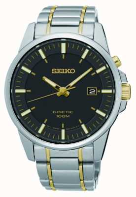 Seiko Acero inoxidable cinético de dos tonos de hombre SKA735P1