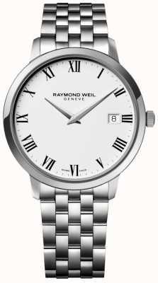 Raymond Weil Pulsera para hombre en acero inoxidable con esfera blanca. 5588-ST-00300