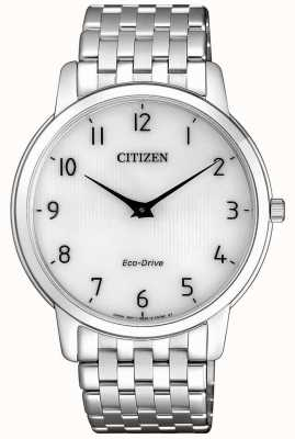 Citizen Acero inoxidable ultra delgado del stiletto del eco-impulsión del Mens AR1130-81A