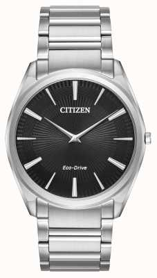 Citizen Acero inoxidable ultra delgado del stiletto del eco-impulsión del Mens AR3070-55E