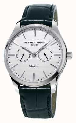 Frederique Constant Correa de cuero negro para hombres clásicos / correa de nato verde FC-259ST5B6