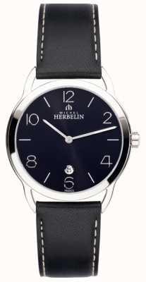 Michel Herbelin Mens equinox reloj correa negro 19577/14N
