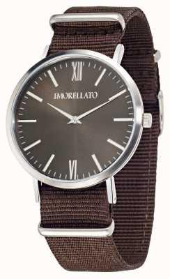 Morellato Mens vela marrón marrón correa reloj R0151134007