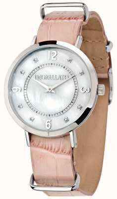 Morellato Reloj de cuero rosado versilia para mujer R0151133508